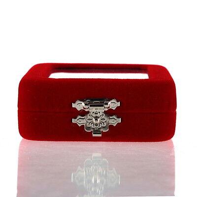 Red Velvet Gift Jewelry Box Case Display Holder for Ring Bracelet Earrings FE