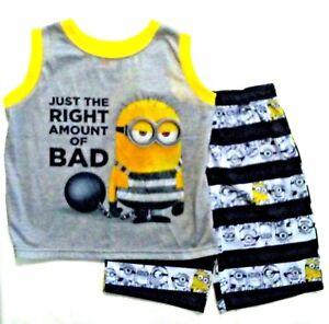 8 Despicable Me 2 Girl 4 PC Long Sleeve Pajama Set