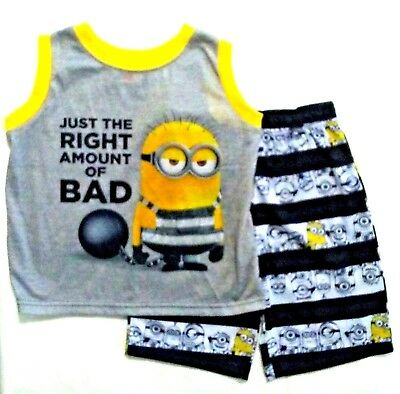 MINIONS Despicable Me Childrens Boys Girls Minion Top T-shirt 2 3 4 5 6 7 Years