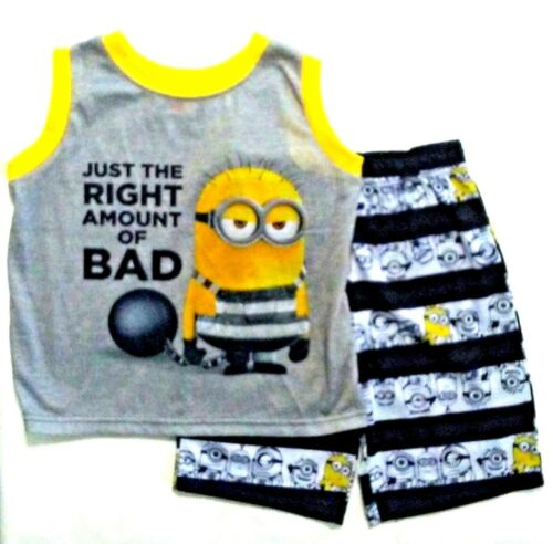 Despicable Me 3 Boys 2 pc Tank Shirt//Shorts Pajama Set NWT  4//5,6//7,8,10 Minions