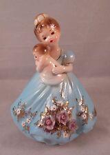 RARE Vintage Josef Originals Figurine Lady Mother Holding Baby EXCELLENT!