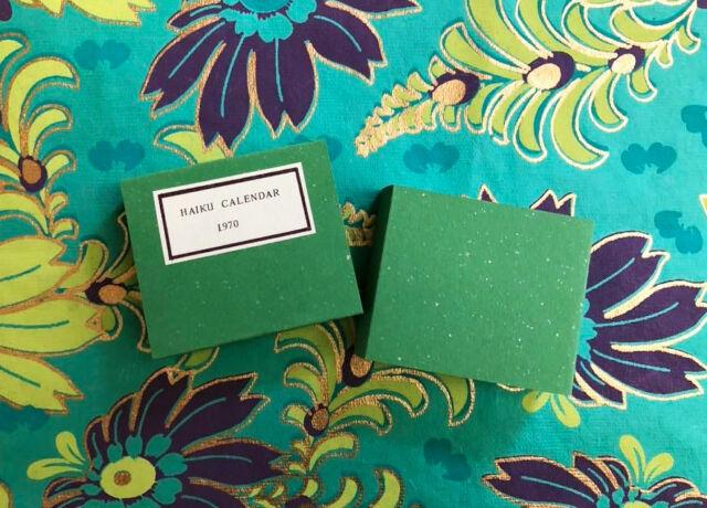 A Calendar of Haiku 1970 REM Miniatures Book Robert E. Massmann Signed, in Box