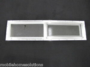 "Bathroom Window Repair mobile home window 36"" x 8"" horizontal slider. obscured glass"