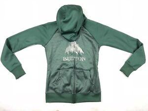 Burton-Mens-Dryride-Green-Hoodie-Size-Small