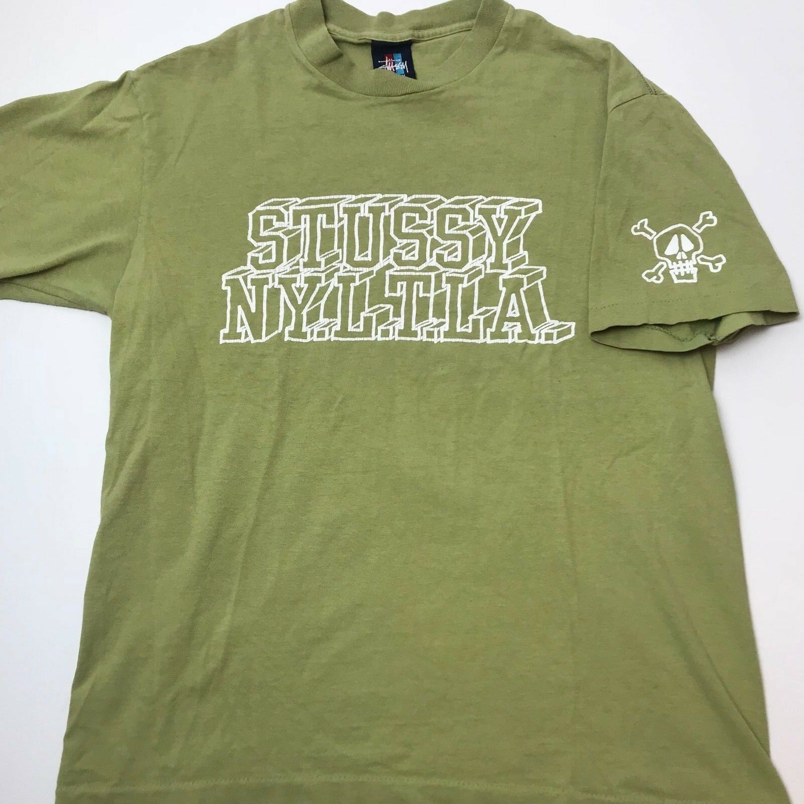 Vintage 90s Made In USA Stussy Shirt Medium Single Stitch Streetwear Skateboard