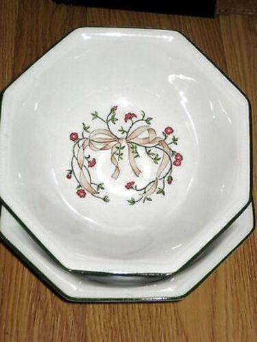 """sau-9A 2 Johnson Bros ETERNAL BEAU 6-7//8/"""" Cereal Bowls-Set of Two EXC"""