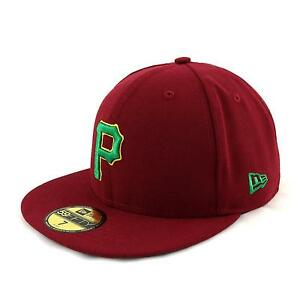 New-Era-Pays-Couleur-2-Pittsburgh-Pirates-Casquette-Ajustee-Bonnet-bordeaux