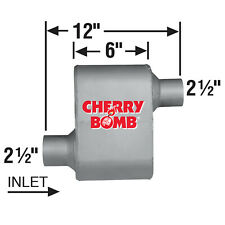 Cherry Bomb 7480cb Extreme Performance Race Muffler Dual Red 25 Inlet 25 Out