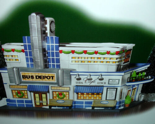 Department 56 Blue Line Bus Depot Christmas In The City #56.59210 New