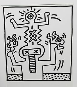 Keith-Haring-LITHORAPH-mint-cond-from-lucio-AMELIO-suite-ed-of-300-rare-investm