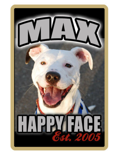 PERSONALIZED PET SIGN YOUR PHOTO//TEXT ALUMINUM FULL COLOR CUSTOM ART PANEL 1094