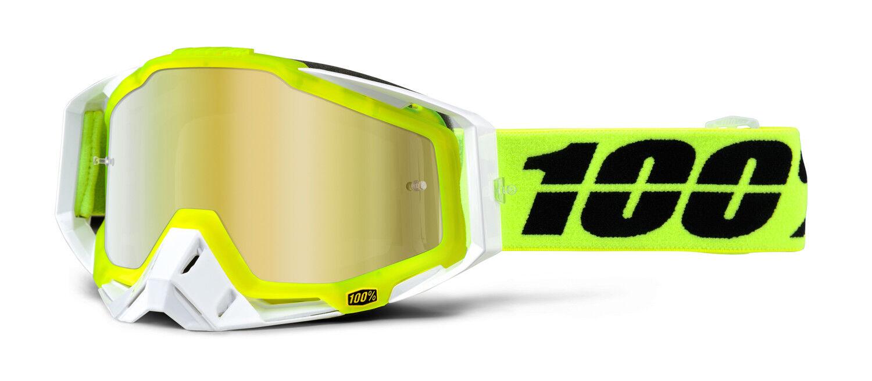 100% crossbrille Racecraft Racecraft crossbrille solar amarillo-oro efecto espejo motocross MTB MX gafas 46974e