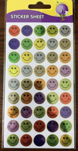 Smily Face Laser Cut Stickers Sheet Of 45//33-2 Different Designs