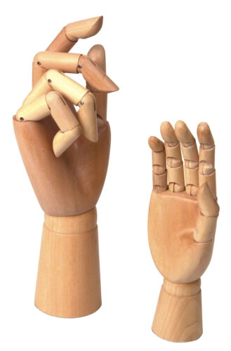 "Jakar Wooden Manikin Hand 12/"" 30cm Life Size Moveable Adjustable Finger 1 Hand"