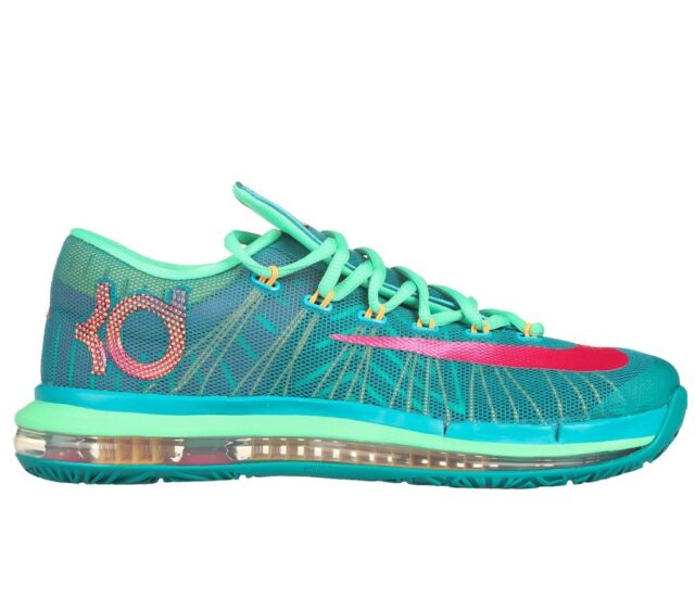 competitive price 85657 b0359 Nike KD VI Elite Size 10.5 Mens Green Pink Basketball Shoes 642838 300