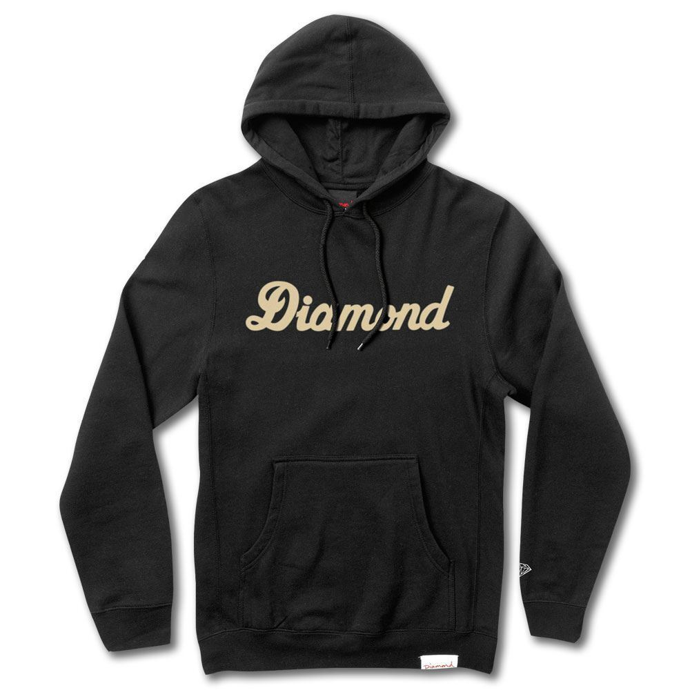 Diamond Supply Co City Script Pullover Hoodie Schwarz