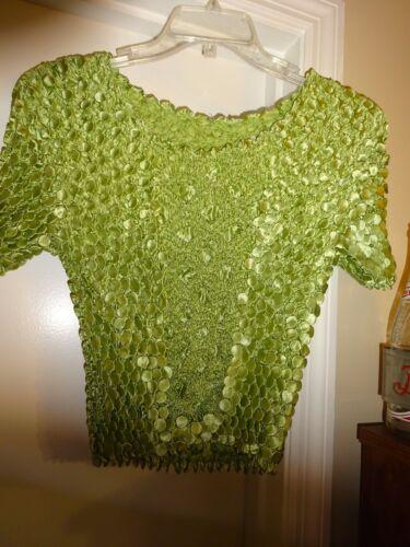 Radiance Popcorn Shirt One Size Green Short Sleeve