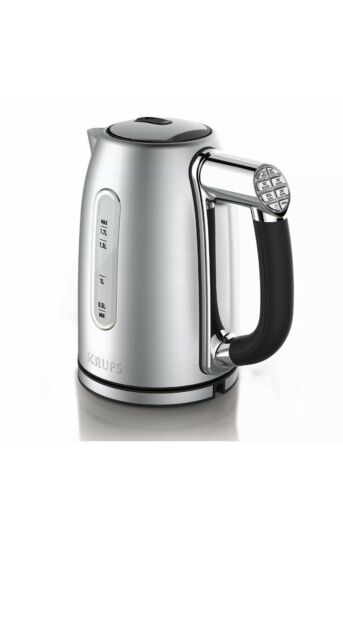 KRUPS BW710D51 Adjustable Temperature Stainless Steel Electric Kettle 1.7-Lit...