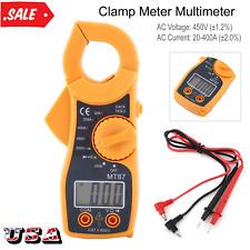 Digital Clamp Meter Multimeter Ac Voltmeter Volt Ohm Amp Tester Lcd Screen