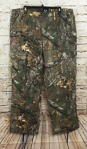 Realtree-Xtra-Cargo-Pants-womens-XL-camo-Camouflage-NEW-side-elastic-C4