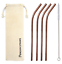 thumbnail 7 - Bent 4 Pack Stainless Steel Metal Straws Gift Set Reusable [Choose your Colour]