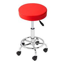Red Hydraulic Swivel Salon Stool Chair Doctor Beauty Medical Dentist Facial Spa
