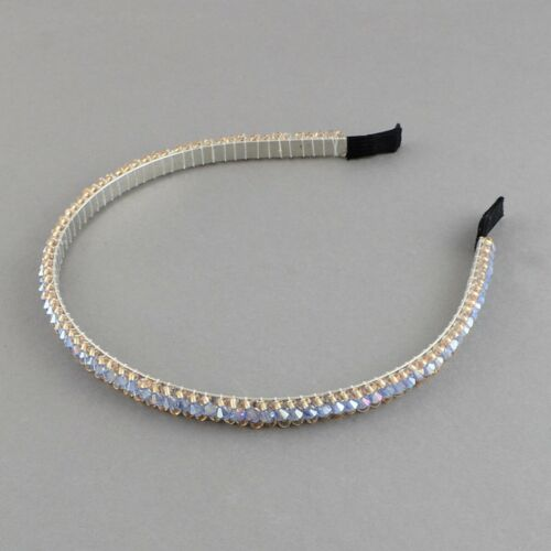 Haarreifen Haarschmuck Haarband Headband 8mm Strasssteinchen Perlen Hairhoops