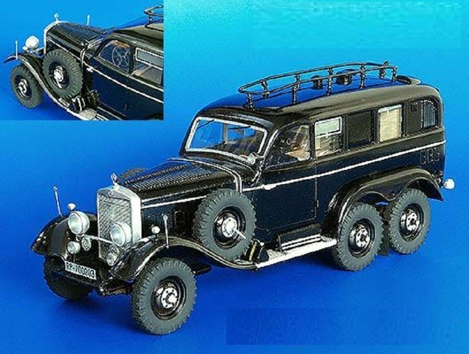 PLUS MODEL COMPLETE KIT MERCEDES G4 RADIOCAR WWII Scala 1 35 Cod.PL195