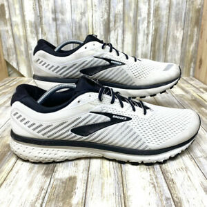 Brooks Ghost 12 Running Shoes- Men's Size 13 - White and Black Athletic Sneakers