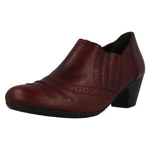 Mujer-Rieker-50560-35-CUERO-ROJO-ELEGANTE-Zapatos-Pantalones