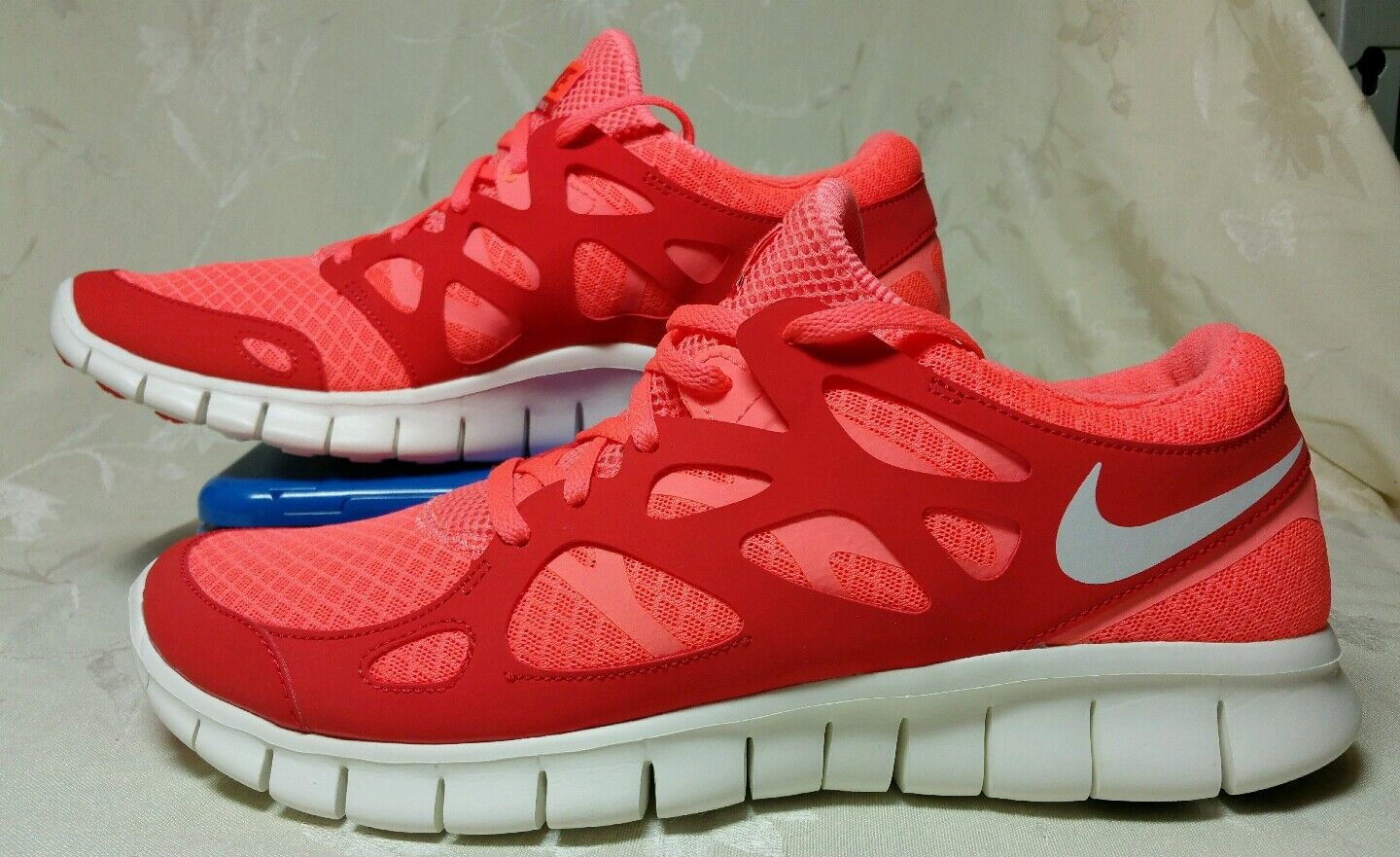 NIKE WOMEN FREE RUN + 2 BRIGHT MANGO/SAIL ACTION RED 443816 806 NIB SZ 11.5 & 12