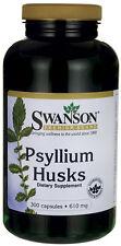 Psyllium Husks 610mg x 300Cap ISABGOL ISPAGHULA IBS COLON DETOX - NATURAL FIBRE