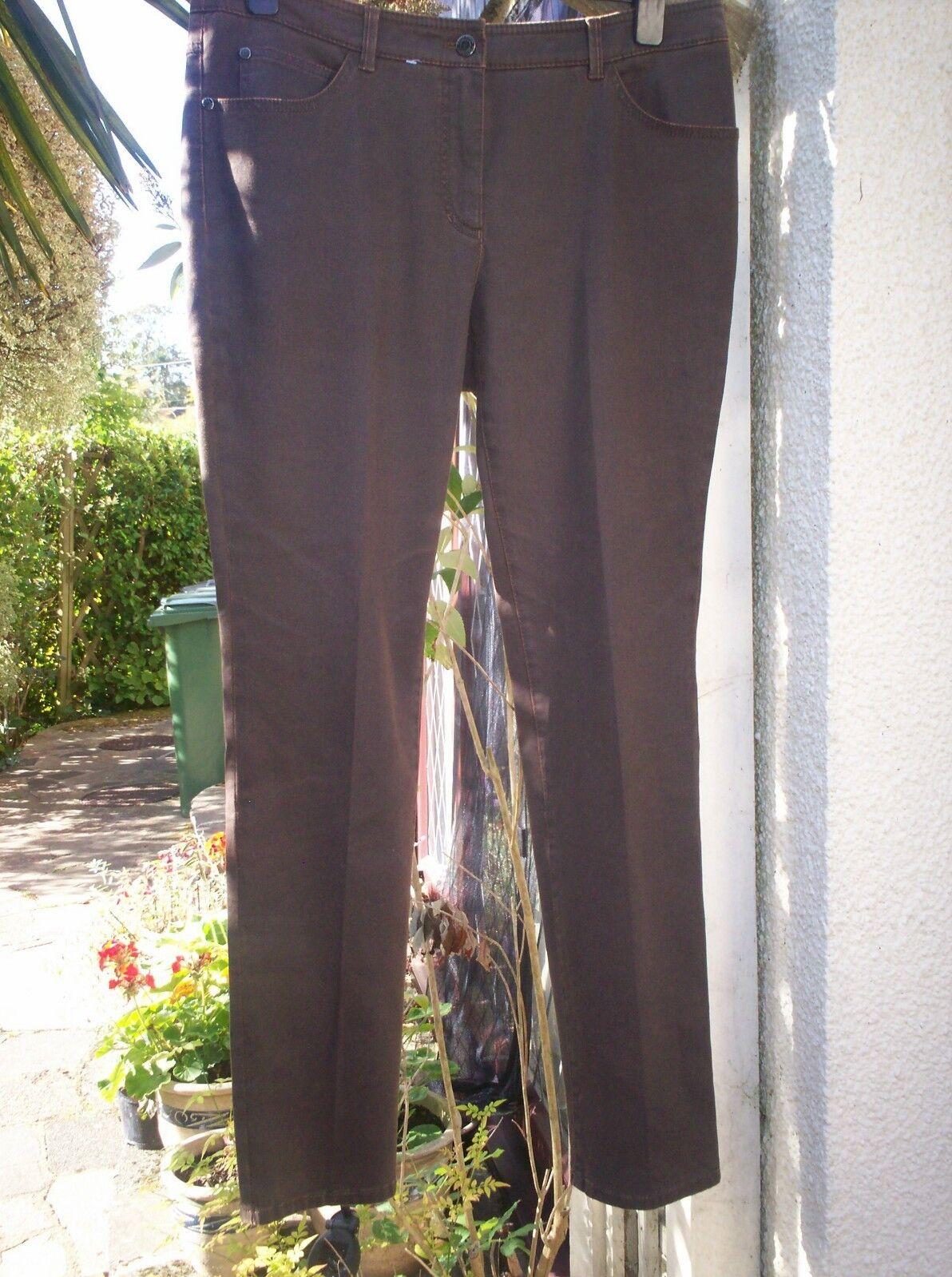 Gerry Weber Brown Slim Leg Soft Feel Stretch Jeans Size 18