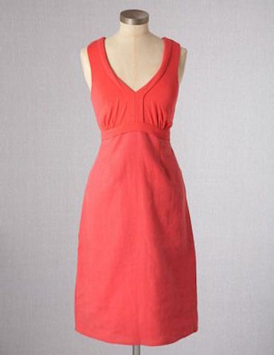 NEW BODEN LINEN & JERSEY DRESS WH505 SIZE US 8