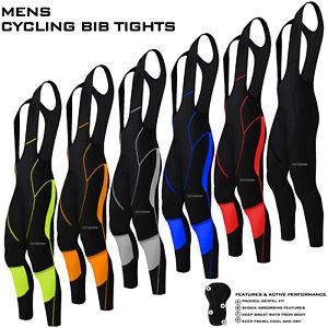Mens-Cycling-Bib-Tights-Long-Compression-Pants-Padded-MTB-Road-Bike-Lycra-NEW