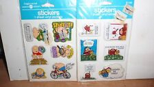 VINTAGE 1982 AMERICAN GREETINGS PUFFY STICKERS ZIGGY & DEVIL NOS SEALED