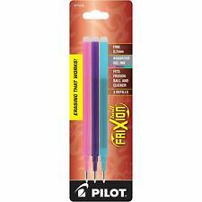 Pilot Frixion Ball Erasable Gel Ink Refills 07mm Fine Pinkpurpleturquoise