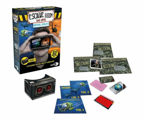 Brille  NEU OVP Noris Spiele 606101666 Escape Room Virtual Reality Inkl