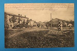 Somme-80-AK-CPA-Heudicourt-1917-village-Rues-Fermes-militaires-Pferd-Reiter-1-WK