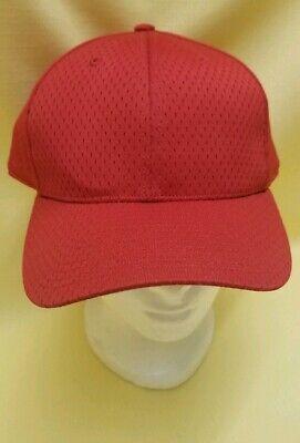 Richardson Pro Model On-Field 400S5 Scarlet Baseball Softball Blank Mesh Hat Cap