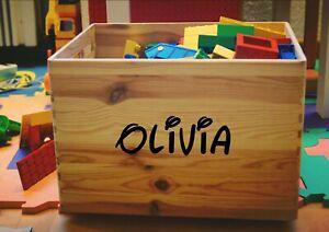 Walt-Disney-Personalised-Name-Toy-Box-Childrens-Kids-Wall-Vinyl-Decal-Sticker