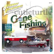 Johnny Lightning 1959 Ford F-250 1/64 Gone Fishing JLBT002 36E B Red / White