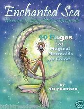 Enchanted Mermaid Adult Colouring Book Fantasy Magical Mystical Greyscale Sea