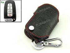 Leather Remote Case Smart Key Holder Cover For Kia Sportage Optima Soul 4 Button