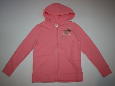 Gymboree Bright and Beachy Coral Pink Green Neon Hoodie Jacket Girls 5-6 7-8 NWT