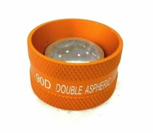 Medical-amp-Lab-equipment-Ophthalmology-Double-Aspheric-Lens-90-D-Golden-Colour
