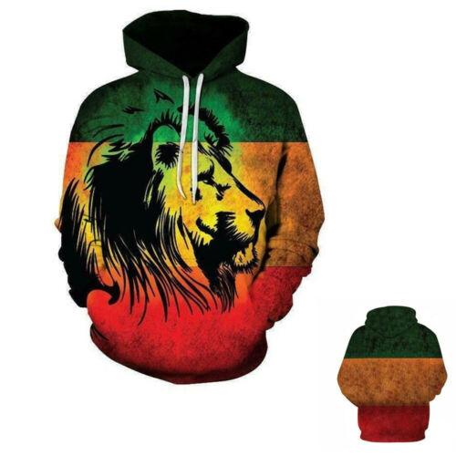 Fashion Women//Men/'s Lion Of Judah Flag 3D Print Hoodies Sweatshirt Pullover