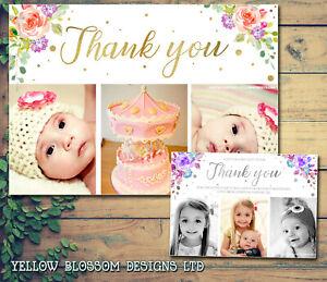 10-Personalised-Christmas-Thank-You-Card-Photo-amp-Envelopes-Birthday-Christening