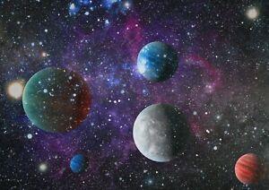 A1-Cosmic-Planets-Galaxy-Universe-Poster-Art-Print-60-x-90cm-180gsm-Gift-13270