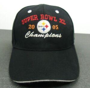 Pittsburgh-Steelers-NFL-Super-Bowl-XL-Champions-Blk-Strapback-Adjustable-Cap-Hat